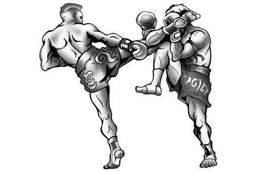 dois pugilistas lutando box ilustram a luta pela html5 entre w3c e whatwg